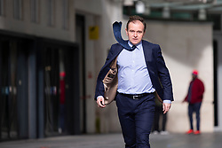 © Licensed to London News Pictures. 23/02/2020. London, UK. Secretary of State for Environment, Food and Rural Affairs George Eustice departs the BBC after appearing on the Andrew Marr Show. Photo credit: George Cracknell Wright/LNP