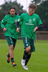 14.07.2011, Platz5, Bremen, GER, 1.FBL, Reha Training Werder Bremen, im Bild  Sebastian Prödl / Proedl ( Werder #15) Keeper Tim Wiese ( Werder #01)// during the trainings session on 2011/07/14.  // during trainingsession from Werder Bremen 2011/07/03    EXPA Pictures © 2011, PhotoCredit: EXPA/ nph/  Kokenge       ****** out of GER / CRO  / BEL ******