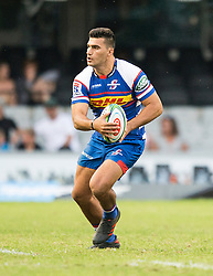 DURBAN, SOUTH AFRICA - APRIL 21: Damian De Allende during the Super Rugby match between Cell C Sharks and DHL Stormers at Jonsson Kings Park on April 21, 2018 in Durban, South Africa. Picture Leon Lestrade/African News Agency/ANA