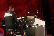 4 August 2010- New York, NY- Robert Glasper at the ' Robert Glasper Experiment with special guest Q-Tip and Bilal' held outdoors in Damrosch Park for The Lincoln Center Out if Doors Series on August 4, 2010 in New York City. Photo Credit: Terrence Jennings