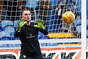 Notts County goalkeeper Ross Fitzsimons (1) warming up  during the EFL Sky Bet League 2 match between Mansfield Town and Notts County at the One Call Stadium, Mansfield, England on 8 December 2018.