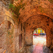 Time travel by walking down the street: The Roman Portal in La Turbie (HDR version)