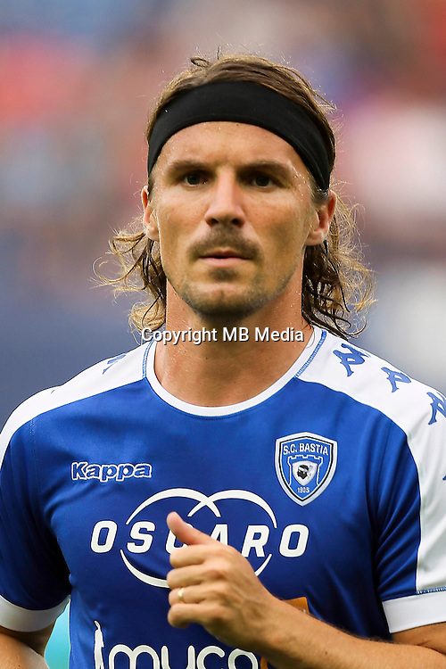 Yannick Cahuzac of Bastia during the French Ligue 1 match between SM Caen an Bastia at Stade Michel D'Ornano on August 27, 2016 in Caen, France. (Photo by Vincent Michel/Icon Sport)