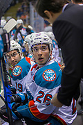 KELOWNA, CANADA - MARCH 24:  Liam Kindree #26 of the Kelowna Rockets at the Kelowna Rockets game on March 24, 2018 at Prospera Place in Kelowna, British Columbia, Canada.  (Photo By Cindy Rogers/Nyasa Photography,  *** Local Caption ***