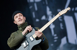 Orlando Weeks of the indie rock band The Maccabees play on the main stage.Rockness, Sunday 13th June..Pic ©2010 Michael Schofield. All Rights Reserved.