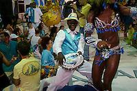 Ultimo ensayo general de los Académicos de Rocinha, antes del Carnaval, en el Barracao de Rocinha. Es un día especial porque es la primera vez que