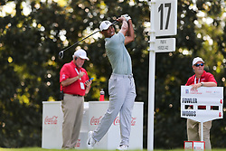 September 21, 2018 - Atlanta, Georgia, United States - Tiger Woods tees off the 17th hole during the second round of the 2018 TOUR Championship. (Credit Image: © Debby Wong/ZUMA Wire)