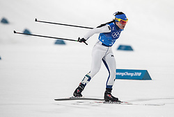 February 17, 2018 - Pyeongchang, South Korea - Krista PARMAKOSKI of Finland in action during the Ladies' 4 x 5km Relay at the Alpensia Cross-Country Center during the 2018 Pyeongchang Winter Olympic Games. (Credit Image: © Daniel A. Anderson via ZUMA Wire)