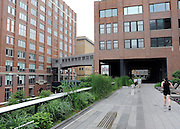 © licensed to London News Pictures. New York, USA  29/05/11. New York's newest public space, the High Line, is about to double in size. The former railway which has been converted into a public park is due to open a new section in June. Once the extension opens the High Line will  will run from the stylish Meatpacking district through fashionable Chelsea all the way up to 30th Street Photo credit should read Stephen Simpson/LNP