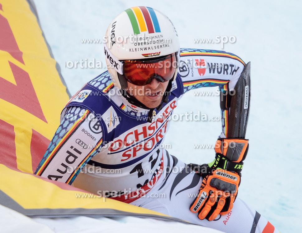 17.02.2017, St. Moritz, SUI, FIS Weltmeisterschaften Ski Alpin, St. Moritz 2017, Riesenslalom, Herren, 2. Lauf, im Bild Stefan Luitz (GER) // Stefan Luitz of Germany reacts after his 2nd run of men's Giant Slalom of the FIS Ski World Championships 2017. St. Moritz, Switzerland on 2017/02/17. EXPA Pictures © 2017, PhotoCredit: EXPA/ Johann Groder