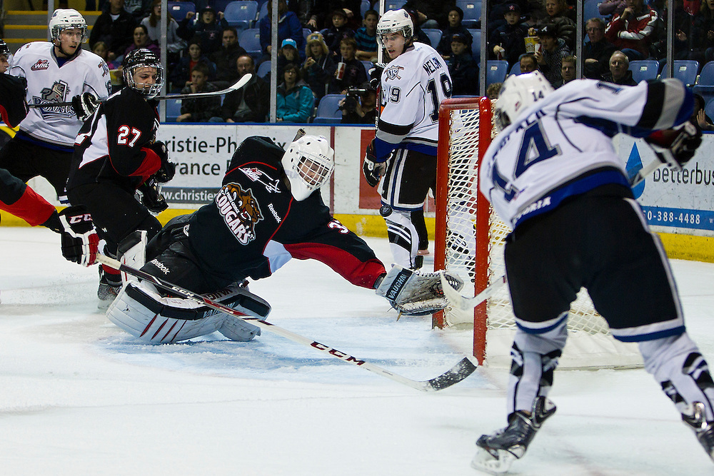 The Victoria Royals host the Prince George Cougars of the WHL Western Hockey League December 27, 2013. The Royals Beat the Cougars 8-2- Kevin Light Photography Victoria Royals vs Prince George Cougars WHL Western Hockey League December 27, 2013 - Kevin Light Photography _V0C9988.JPG