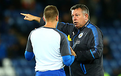 Leicester City manager Craig Shakespeare talks with Marc Albrighton of Leicester City - Mandatory by-line: Robbie Stephenson/JMP - 16/10/2017 - FOOTBALL - King Power Stadium - Leicester, England - Leicester City v West Bromwich Albion - Premier League