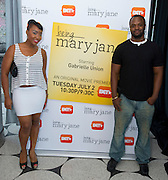 "Guests pose for a photo before a screening of BET's ""Being Mary Jane"" at the W Hotel in Dallas, Texas on June 22, 2013."