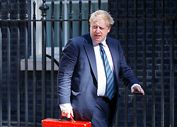 © Licensed to London News Pictures. 19/07/2016. London, UK. Foreign Secretary BORIS JOHNSON attending the first cabinet meeting under Theresa May's leadership in Downing Street on Tuesday, 19 July 2016. Photo credit: Tolga Akmen/LNP