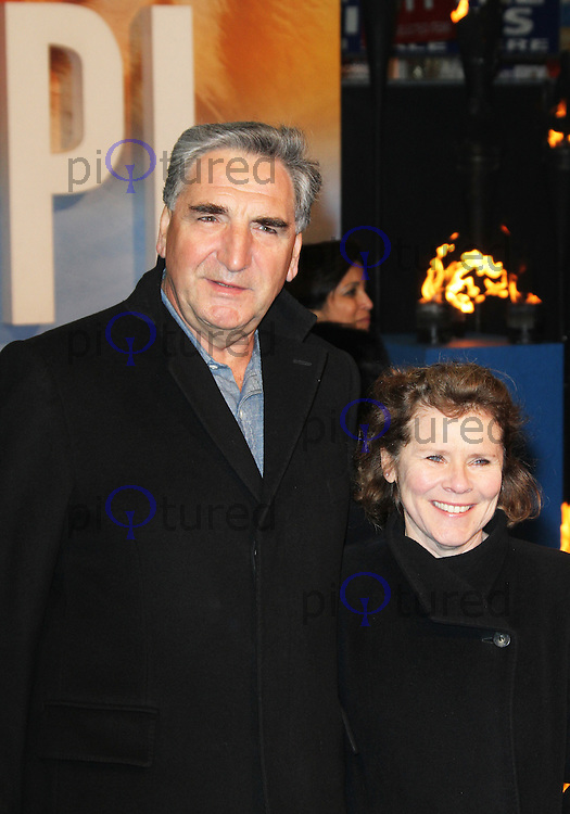 LONDON - DECEMBER 03: Jim Carter; Imelda Staunton attended the UK Film Premiere of 'Life Of Pi' at the Empire Cinema, Leicester Square, London, UK. December 03, 2012. (Photo by Richard Goldschmidt)