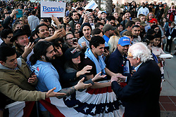 March 22, 2019 - San Diego, California, U.S. - U.S. Senator and Democratic candidate for president BERNIE SANDERS shakes hands with people at the conclusion of a campaign rally at Waterfront Park in San Diego on Friday. (Credit Image: © Hayne Palmour IV/San Diego Union-Tribune via ZUMA Wire)