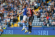 Sheffield Wednesday Forward Jordan Rhodes (7) wins a header during the EFL Sky Bet Championship match between Sheffield Wednesday and Sheffield Utd at Hillsborough, Sheffield, England on 24 September 2017. Photo by Adam Rivers.