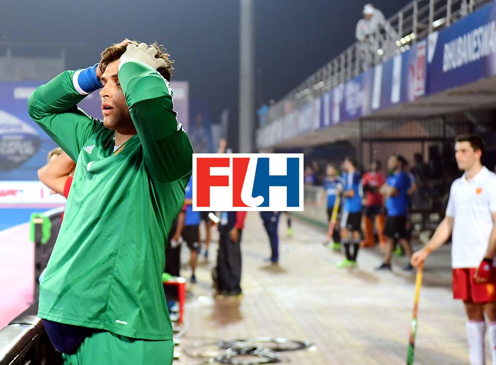 Odisha Men's Hockey World League Final Bhubaneswar 2017<br /> Match id:14<br /> England v Argentina<br /> Foto: keeper Harry Gibson (Eng) <br /> COPYRIGHT WORLDSPORTPICS FRANK UIJLENBROEK