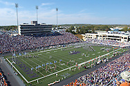 The Kansas State Wildcats rush the field before their game with Oklahoma State at Bill Snyder Family Stadium in Manhattan, Kansas, October 7, 2006.  The Wildcats beat the Cowboys 31-27.<br />