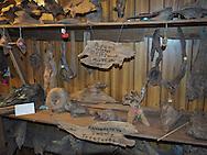 Inside Adam's Cypress Swamp Driftwood Family Museum in Pierre Part, Louisiana,