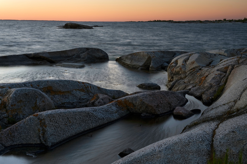 Coastal landscape in Kallskär at sunset.<br /> Stockholm Archipelago, Sweden