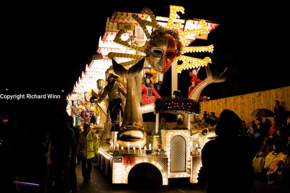 Venezia by Wills Carnival Club at Bridgwater Carnival 2009. Fourth in the Feature and Tableau Cart Local Class.