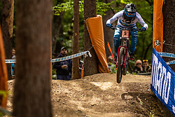 Monika Hrastnik of Slovenia during Mercedes-Benz UCI Mountain Bike World Cup competition final day in Bike Park Pohorje, Maribor on 28th of April, 2019, Slovenia.  . Photo by Grega Valancic / Sportida
