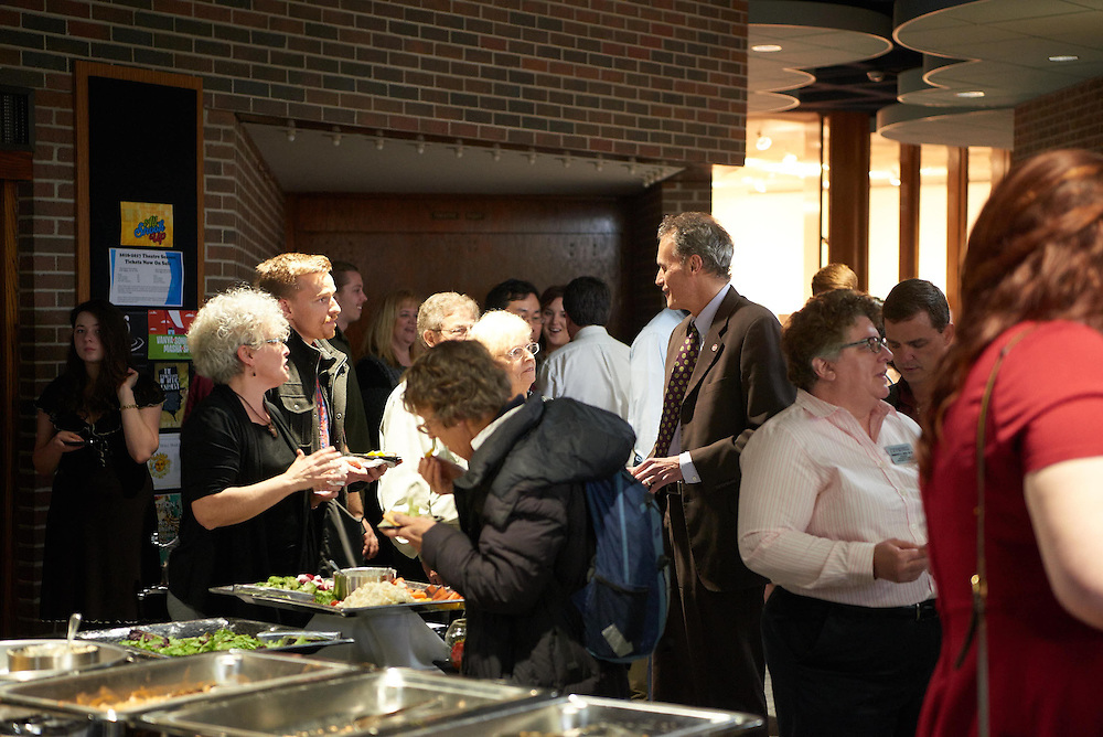 Activity; Awards; Buildings; Center for the Arts CFA; Location; Inside; People; Student Students; Faculty; Spring; April; Time/Weather; night; UWL UW-L UW-La Crosse University of Wisconsin-La Crosse; Type of Photography; Candid; College of Liberal Studies Evening of Excellence CLS; Julia Johnson Martin Stanley; Dean