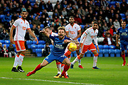Peterborough United midfielder Danny Lloyd (10) with a penalty appeal during the EFL Sky Bet League 1 match between Peterborough United and Blackpool at London Road, Peterborough, England on 18 November 2017. Photo by Nigel Cole.