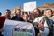2013/04/21 Roma, manifestazione del Movimento 5 Stelle. Nella foto al centro Roberta Lombardi..Rome, Movimento 5 Stelle (Five stars movement) demo. In the picture at the center Roberta Lombardi - © PIERPAOLO SCAVUZZO