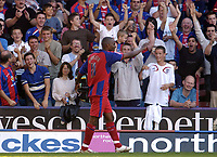 Photo: Olly Greenwood.<br />Crystal Palace v Coventry City. Coca Cola Championship. 23/09/2006. Palace's Clinton Morrison celebrates his goal