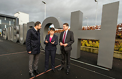 Pictured: Ahmet Serhat Sari, Turkish Airlines General manager for Scotland, Ruth Davidson and shadow finance secretary Murdo Fraser <br /> <br /> Scottish Conservatives leader Ruth Davidson and shadow finance secretary Murdo Fraser headed to Edinburgh Airport to meet Ahmet Serhat Sari, Turkish Airlines General manager for Scotland, 4 years after the airline opened up the route from the capital to Ankera. Ms Davison was keen to discuss the expansion of the Scottish economy.<br /> <br /> Ger Harley | EEm 9 December 2016