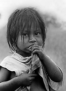 Native child, Guarani Kaiowa indigenous people, Mato Grosso do Sul State, Mid-west Brazil.