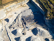 Aerial view of a limestone quarry in Juneau County, Wisconsin.