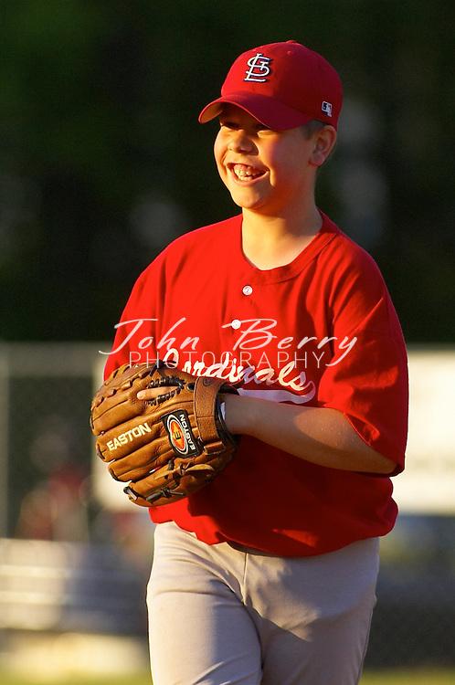 Madison Parks and Rec Youth Baseball, Majors, Cardinals vs Yankees on Wednesday, May 4, 2005