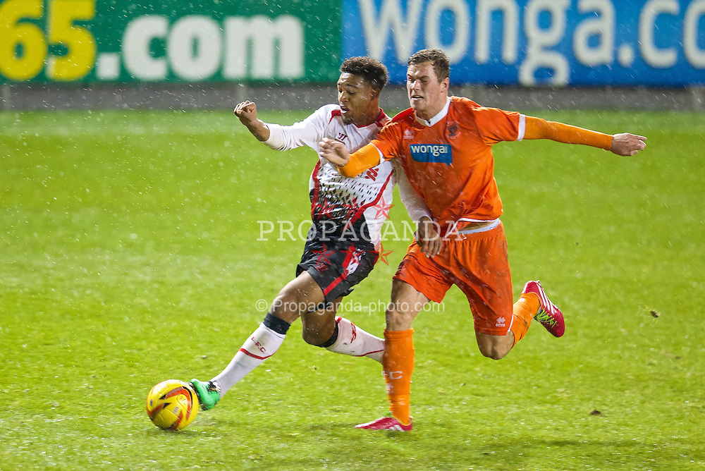 BLACKPOOL, ENGLAND - Wednesday, December 18, 2013: Liverpool's Jordon Ibe in action against Blackpool during the FA Youth Cup 3rd Round match at Bloomfield Road. (Pic by David Rawcliffe/Propaganda)