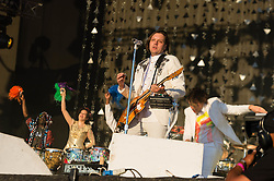 © Licensed to London News Pictures. 03/07/2014. London, UK.   Arcade Fire performing live at Hyde Park  as part of the Barclaycard British Summer Time series of music events held at Hyde Park this summer.   Photo credit : Richard Isaac/LNP