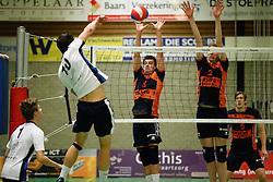 20170125 NED: Beker, Sliedrecht Sport - Seesing Personeel Orion: Sliedrecht<br />Gerard Baan (10) of Sliedrecht Sport, Stijn Held (3), Dik Heusinkveld (2) of Seesing Personeel - Orion<br />©2017-FotoHoogendoorn.nl / Pim Waslander