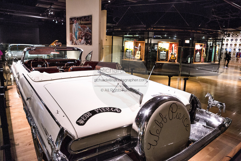 Museum display of Webb Pierce Pontiac Bonneville at the Country Music Hall of Fame in Nashville, TN.