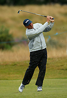 Golf - 2019 Senior Open Championship at Royal Lytham & St Annes - Fiinal Round <br /> <br /> Fred Couples (USA) plays an approach into the 11th green.<br /> <br /> COLORSPORT/ALAN MARTIN