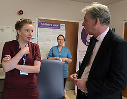 """Scottish Labour leader Richard Leonard and Health spokesperson Monica Lennon met with midwives in NHS Lanarkshire, ahead of a Scottish Labour debate which calls on the SNP Government to invest an additional £10 million for the implementation of Best Start and to investigate claims that midwives are not being given sufficient resources to do their jobs.<br /> <br /> Scottish Labour will use parliamentary time this week to call on the SNP Government to investigate reports that midwives do not have enough resources to do their jobs safely.<br /> <br /> Concerns have been raised in an open letter by midwives in NHS Lothian, which claim they do not have enough computers, equipment and pool cars.<br /> <br /> Scottish Labour have also called for an additional £10 million to be allocated towards the implementation of the Best Start recommendations, to ensure that midwives are given adequate time, training and resources.<br /> <br /> Scottish Labour Health Spokesperson Monica Lennon said:<br /> <br /> """"Midwives play a crucial role in caring for women and babies. The best way of recognising their contribution to our NHS is by making sure they have enough resources to do their jobs safely.<br /> <br /> """"That's why Scottish Labour is calling on the SNP Government to investigate reports about a lack of equipment and resources, and to provide an additional £10 million towards the implementation of the Best Start recommendations.<br /> <br /> """"The Health Secretary must listen to the concerns of midwives and take urgent action to address the workforce crisis.""""<br /> <br /> Pictured: Richard Leonard chats to midwives<br /> <br /> Alex Todd 