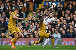 Victor Wanyama of Tottenham Hotspur blocks a cross from Scott Malone of Fulham - Mandatory by-line: Jason Brown/JMP - 19/02/2017 - FOOTBALL - Craven Cottage - Fulham, England - Fulham v Tottenham Hotspur - Emirates FA Cup fifth round