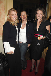 Left to right, LADY DALMENY, SOPHIE THOMPSON and ZOE APPLEYARD-LEY at the engagement party of Vanessa Neumann and William Cash held at 16 Westbourne Terrace, London W2 on 15th April 2008.<br />