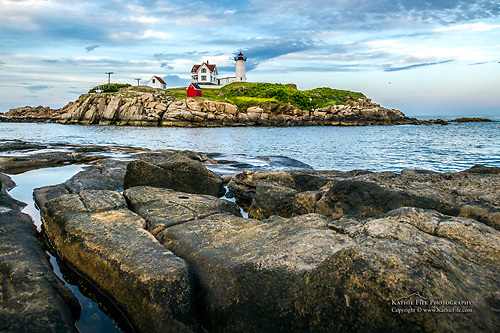 The Nubble Lighthouse, York, Maine<br /> <br /> Please ORDER BY December 10, 2012 to ensure delivery before Christmas.<br /> <br /> All Content is Copyright of Kathie Fife Photography. Downloading, copying and using images without permission is a violation of Copyright.