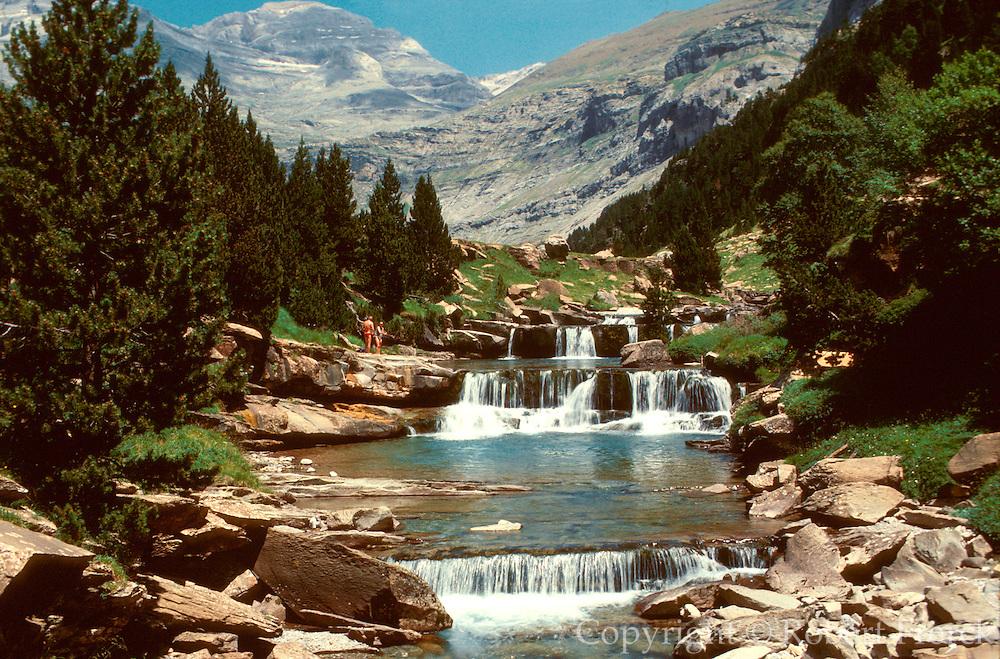 SPAIN, ARAGON, PYRENEES Ordesa Nat. Park; Mount Perdido
