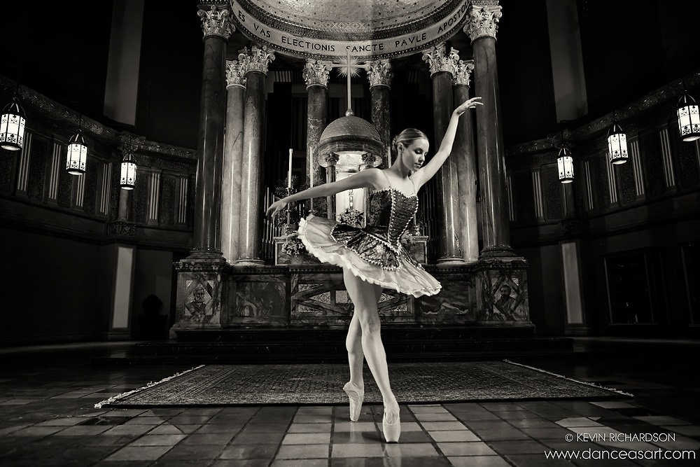 Dance As Art The New York City Photography Project Black and white St Paul The Apostle Series with Erin Dowd