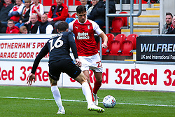 Joe Newell of Rotherham United looks to get past Jonathan Howson of Middlesbrough - Mandatory by-line: Ryan Crockett/JMP - 05/05/2019 - FOOTBALL - Aesseal New York Stadium - Rotherham, England - Rotherham United v Middlesbrough - Sky Bet Championship