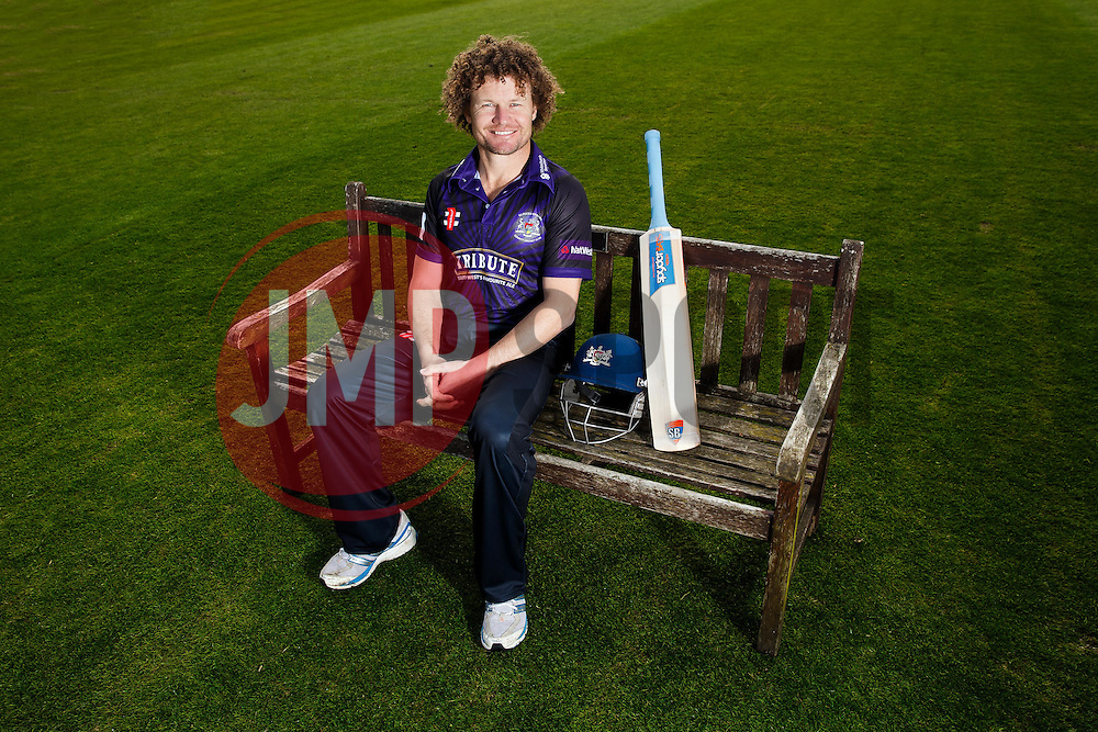 Hamish Marshall of Gloucestershire poses in the Natwest T20 Blast kit at the preseason Media Day - Photo mandatory by-line: Rogan Thomson/JMP - 07966 386802 - 10/04/2015 - SPORT - CRICKET - Bristol, England - Bristol County Ground - Gloucestershire County Cricket Club Photocall.