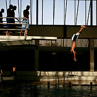 Saudi boys enjoyed a day of swimming at one of Riyadh's few sports clubs. March 2008.