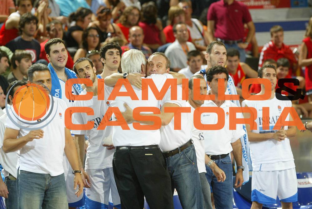 DESCRIZIONE : Madrid Spagna Spain Eurobasket Men 2007 Qualifying Round Israele Croazia Israel Croatia <br /> GIOCATORE : Team Israele Israel <br /> SQUADRA : Israele Israel <br /> EVENTO : Eurobasket Men 2007 Campionati Europei Uomini 2007 <br /> GARA : Israele Croazia Israel Croatia <br /> DATA : 07/09/2007 <br /> CATEGORIA : Esultanza <br /> SPORT : Pallacanestro <br /> AUTORE : Ciamillo&amp;Castoria/M.Metlas <br /> Galleria : Eurobasket Men 2007 <br /> Fotonotizia : Madrid Spagna Spain Eurobasket Men 2007 Qualifying Round Israele Croazia Israel Croatia <br /> Predefinita :